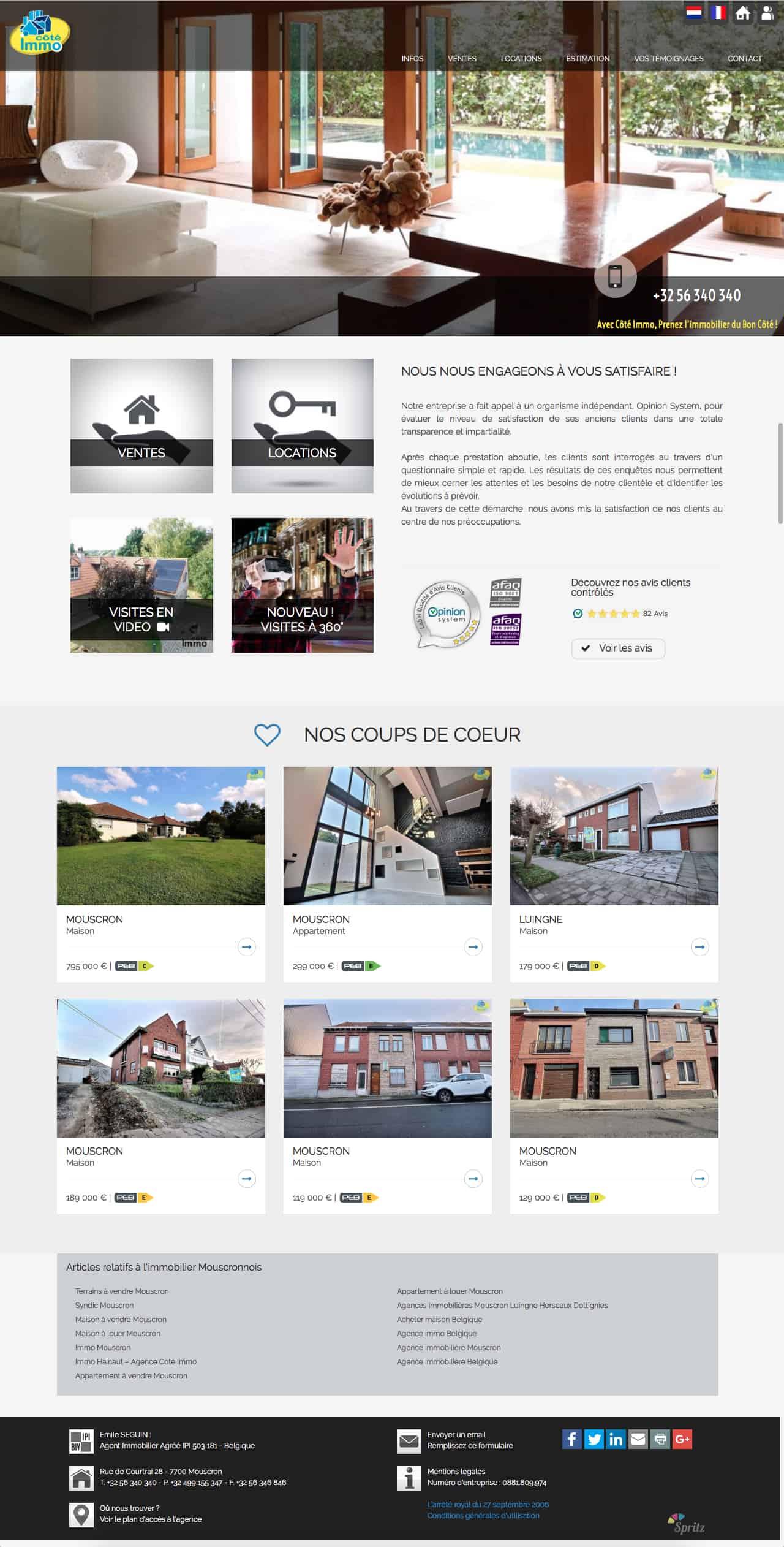 Agence immobilière Mouscron - Agence immobilière Belgique