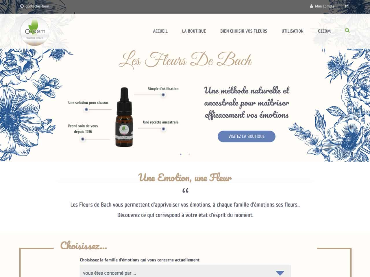 Bach-en-fleurs.com, Vente de Fleurs de Bach originales